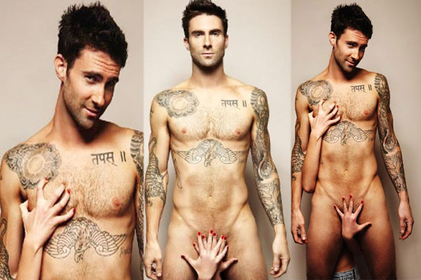 Naked Stars: Not a secret Anymore!  Adam Levine,Keira Knightley and Scarlett Johansson naked