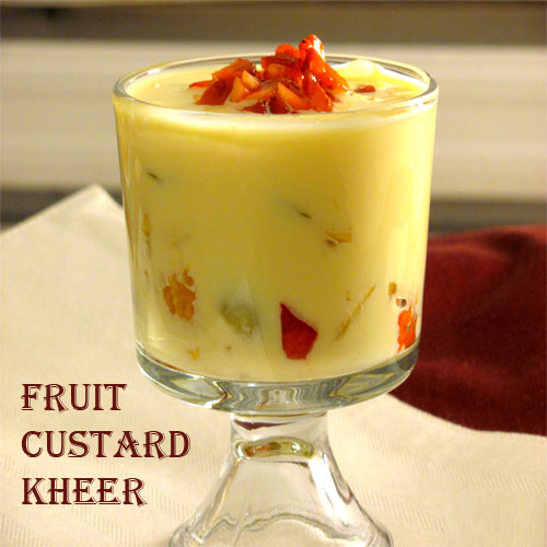 How to cook Fruit Custard Kheer,recipe, custard, kheer, how to make custard kheer, sweet dish