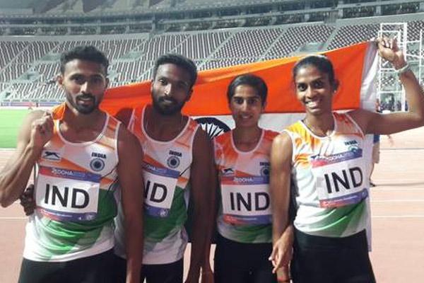 एशियाई एथलेटिक्स : 4 गुणा 400 मी. मिश्रित रिले में भारत को मिला रजत