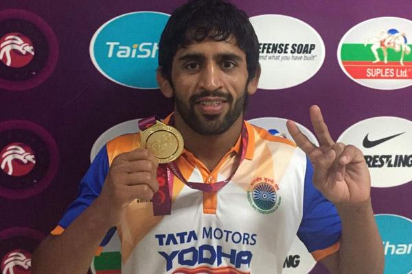 एशियाई कुश्ती : बजरंग को स्वर्ण, पहले दिन भारत को 3 पदक