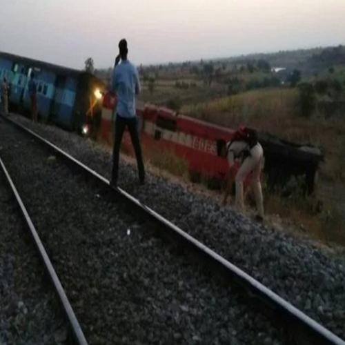कर्नाटक में औरंगाबाद-हैदराबादट्रेनपटरी से उतरी
