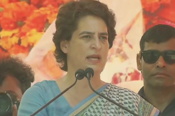 कांग्रेस महासचिव प्रियंका गांधी बोलीं, भाजपा की नीति व नीयत दोनों ही बेकार