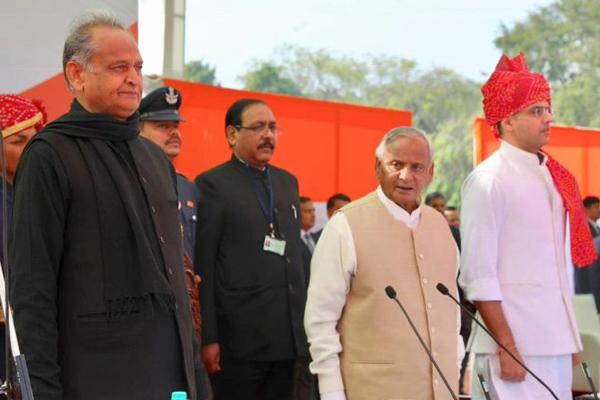 राजस्थान : गहलोत, पायलट ने मुख्यमंत्री, उपमुख्यमंत्री के रूप में शपथ ली