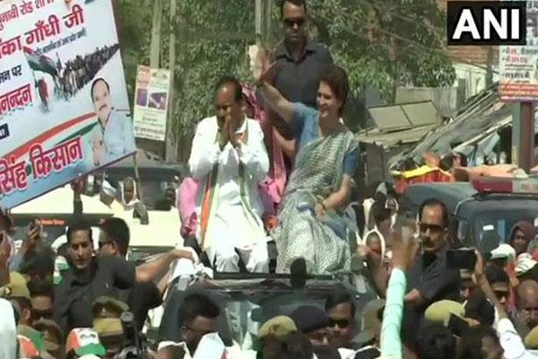 भाजपा सरकार की गलत नीतियों से किसान कर्ज में डूबता जा रहा : प्रियंका गांधी