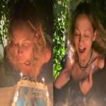 जन्मदिन समारोह के दौरान निकोल रिची के बालों में लगी आग