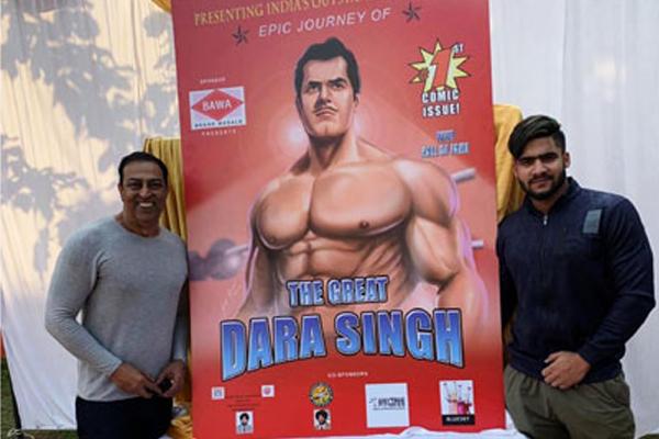 विंदु दारा सिंह ने कॉमिक्स लांच की