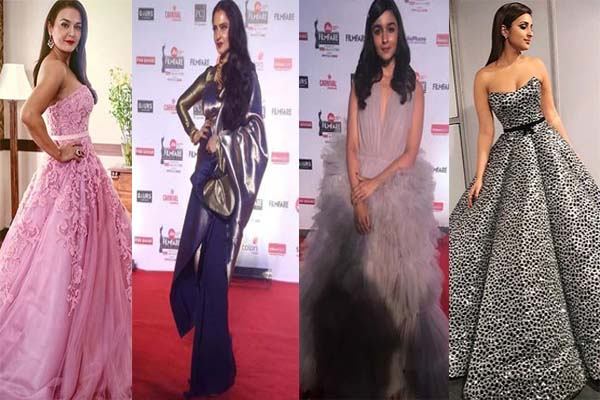 Filmfare award 2018: रेड कॉर्पेट पर इन हसीनाओं ने ऐसे बिखेरा अपनी खूबसूरती का जलवा