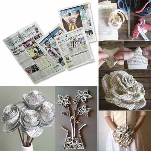 6 amazing tips to use the waste newspaper decor world for Decorative articles from waste materials