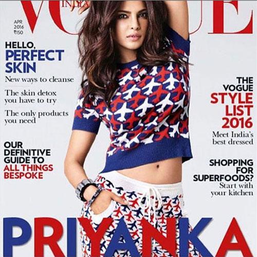 Cute अवतार में प्रियंका Vogue के कवर पर