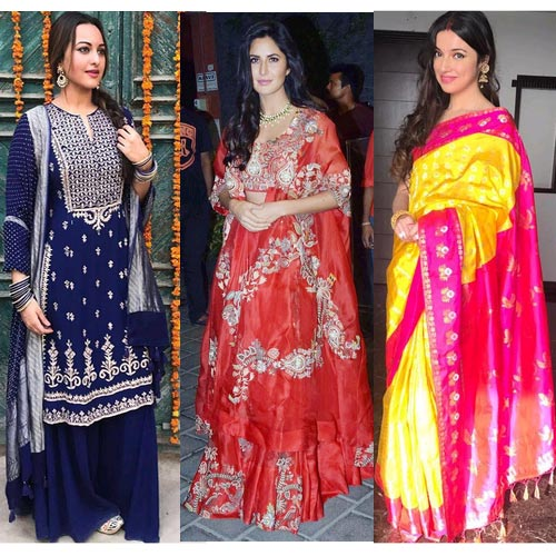 Fashion funda:कैटरीना, जूही, सोनाक्षी, श्रीदेवी देसी लिबास में