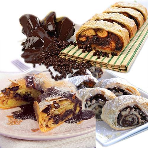 यम्मी-यम्मी चॉकलेट स्ट्रूडेल-Chocolate Strudel