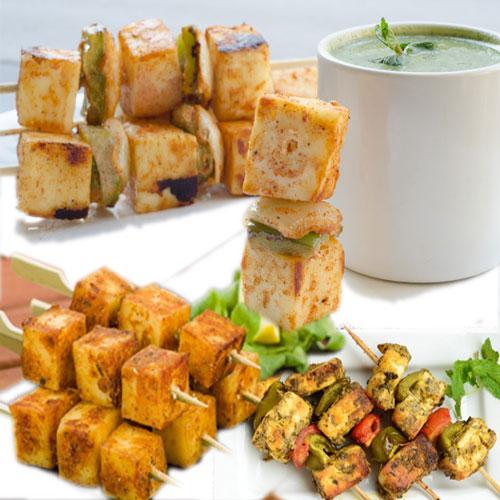 चाय के साथ पनीर कबाब का मजा- Paneer kebab
