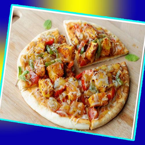 मजेदार पनीर टिक्का पिज्जा- Paneer Tikka Pizza