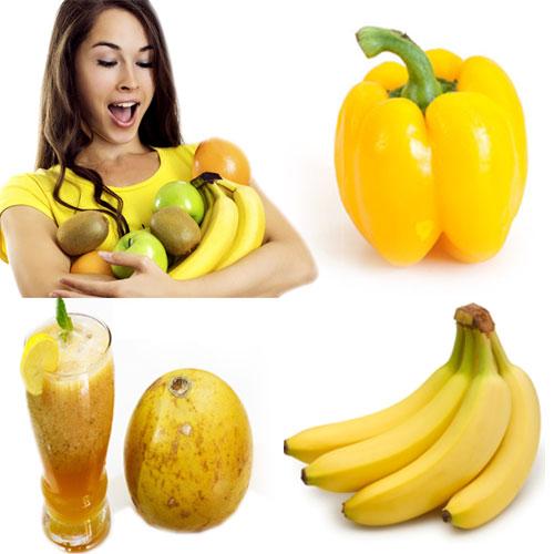 पीला रंग के फल व सब्जियां में सेहत के राज