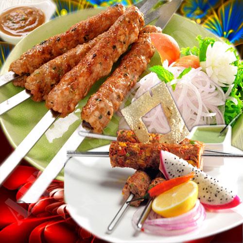 हॉट एण्ड स्पाइसी काकोरी कबाब का मजा...
