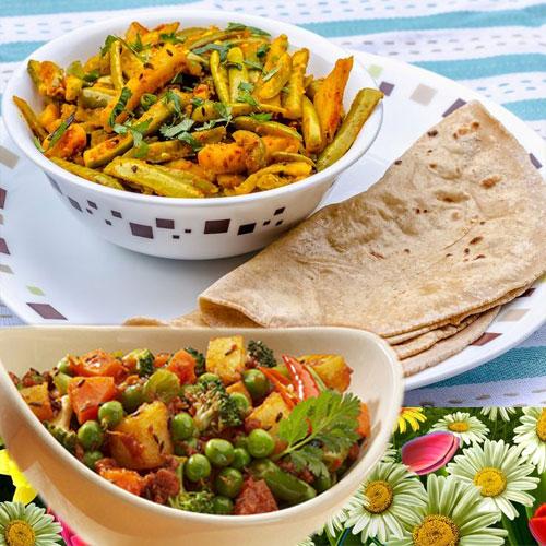 रंग-रंगीला गुजराती कोरमा- Gujarati Korma Recipe