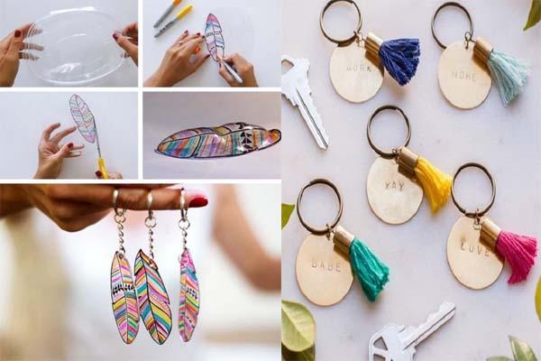 आप घर पर पड़ी चीजों से ऐसे बना सकते हैं Keychain....