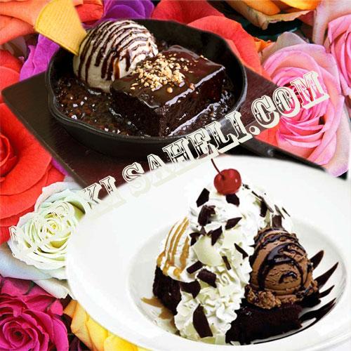 चॉकलेट फज ब्राउनी सिजलर का जादू...-Chocolate Fudge Brownie Sizzler