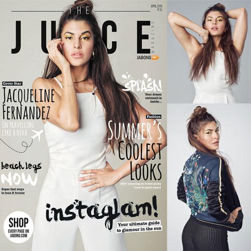 Juice magazine अप्रैल 16 के कवर star बनी जैकलिन