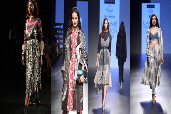 लैक्मे फैशन वीक में दिखा ikai के डेनिम फैब्रिक और स्ट्राइप का कलेक्शन.......