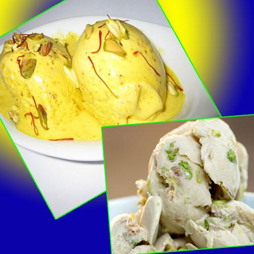 केसर पिस्ता आइस्क्रीम का लीजिए लुफ्त- Pista Kesar Ice Cream