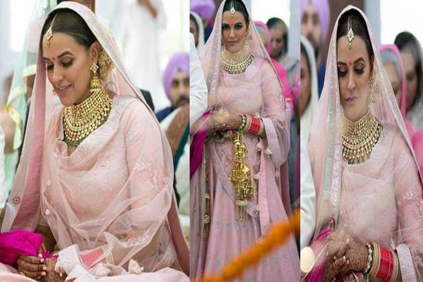 नेहा धुपिया ने इस दुल्हन के जोड़े में आई बेहद खूबसूरत नजर..