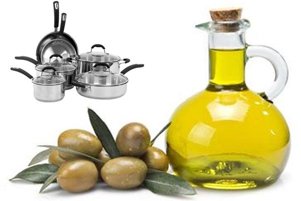 स्टेनलेस स्टील बर्तनों पर तेल की कोटिंग वैक्टीरिया वृद्धि को रोकता है
