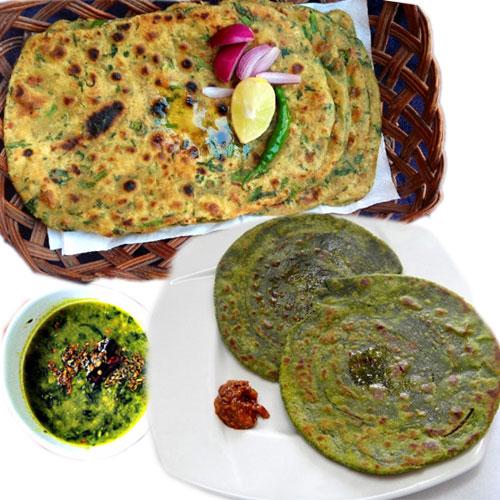 ठंड में पालक के परांठे-Palak Paratha Recipe