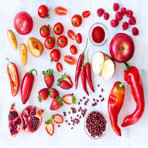 लाल रंग की फल व सब्जियों में समाए औषधीय गुण
