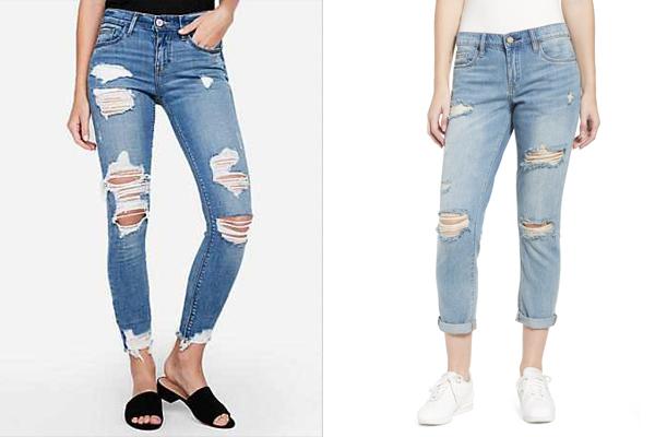 फिर लौट आया 90 के दशक की फटी जीन्स का फैशन