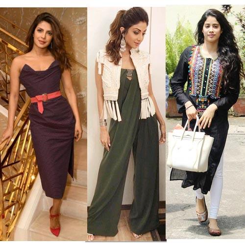 Fashion diaries में क्या देखा आपने प्रियंका, जाह्ववी और शिल्पा का अंदाज...