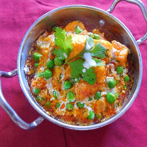 how to make shahi matar paneer in hindi