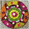 फूलों की रंगोली से घर में लगे चार चांद