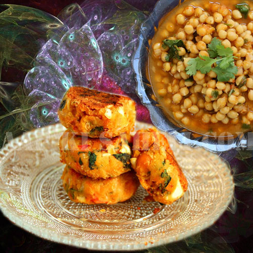 चटपटी काबुली चना टिक्की का मजेदार स्वाद-Kabuli Chana Tikki