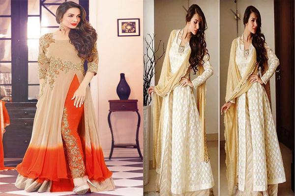 मलाइका के इन इड़ियन ड्रेसिस डिजाइन्स के स्टाइल को आप इस तरह करें फॉलो.....