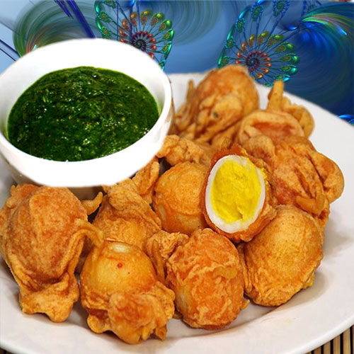 टी पार्टी स्नैक्स अंडा पकौडा रेसिपी...-Egg Pakoda Recipe