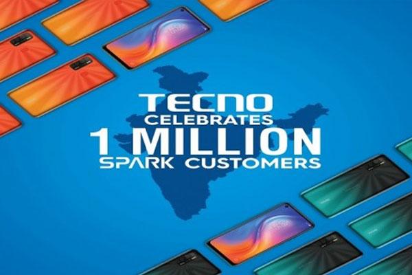 टेक्नो ने भारत में सात महीने में बेचे 10 लाख स्पार्क स्मार्टफोन