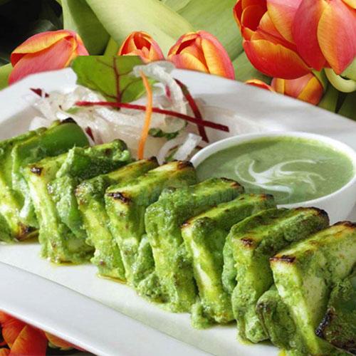 अनोखे स्वाद में पनीर हरा सींक- Paneer Green Seekh